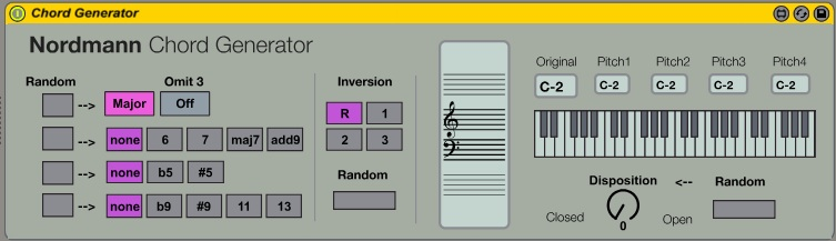 Chord Generator version 1 1 by nordmann on maxforlive com