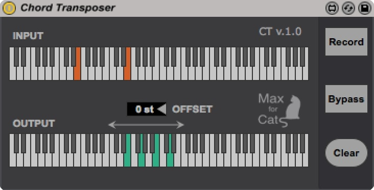 Chord Transposer version 1.0 by maxforcats on maxforlive.com